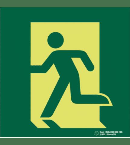 Señal / Cartel de Evacuación en planta. Clase A