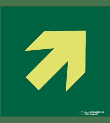 Señal / Cartel de Flecha de evacuación. Clase A