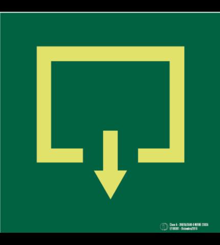 Señal / Cartel de Evacuación pictograma. Clase A