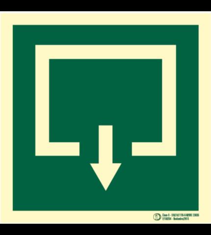 Señal / Cartel de Evacuación pictograma. Clase B