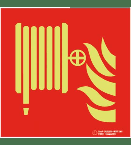 Señal / Cartel Boca de Incendios Equipada BIE. Clase A