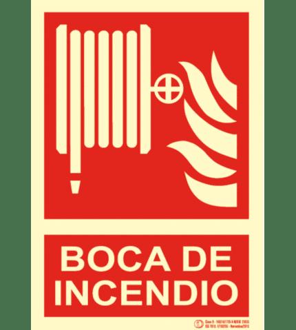 Señal / Cartel Boca de Incendios Equipada BIE. Clase B.