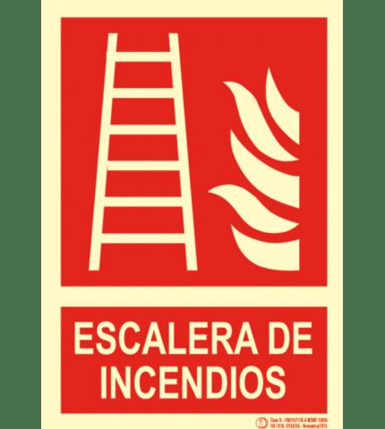 Señal / Cartel de Escalera emergencia. Clase B