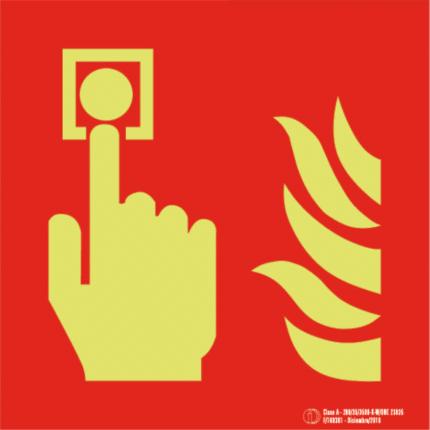 Señal / Cartel de Pulsador de alarma. Clase A