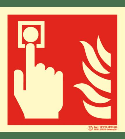 Señal / Cartel de Pulsador de alarma. Clase B