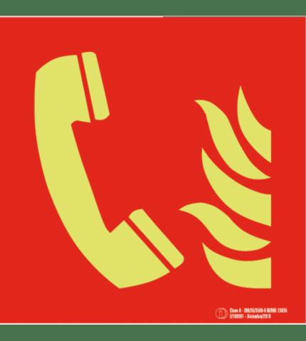 Señal / Cartel Teléfono de emergencia. Clase A