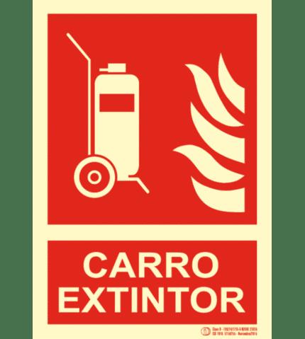 Señal / Cartel de Columna móvil extintor. Clase B