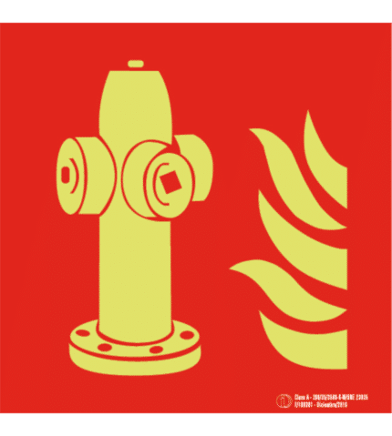Señal / Cartel de Hidrante. Clase A