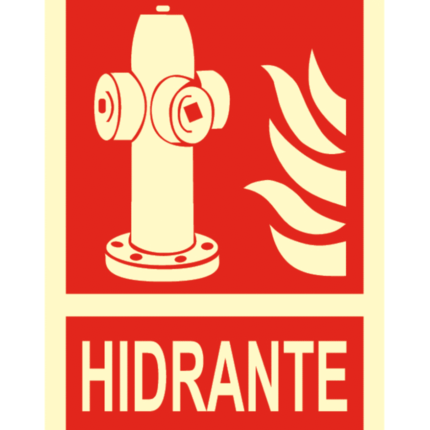 Señal / Cartel de Hidrante. Clase B