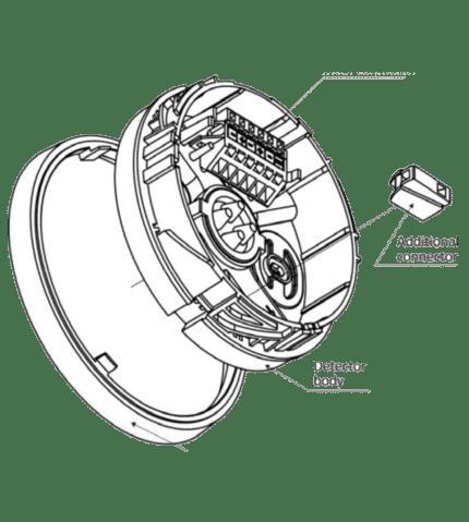 Base para detector óptico de humos. G-40
