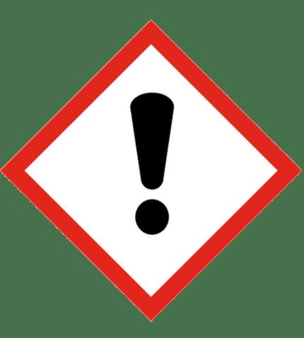 Señal de Peligro de irritación al inhalar