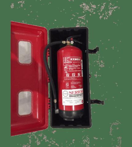 Armario de extintor PVC 6-9 Kg Polvo V.U