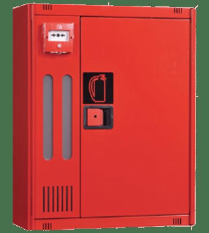 Armario Extintor + Pulsador de alarma. MT690