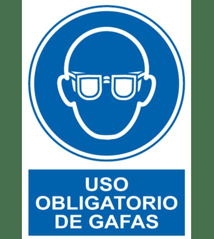 Señal / Cartel de Uso obligatorio de gafas