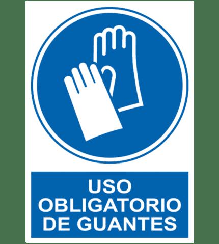 Señal / Cartel de Uso obligatorio de guantes