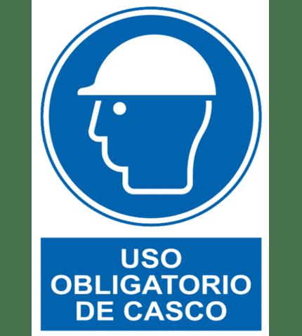 Señal / Cartel de Uso obligatorio de casco