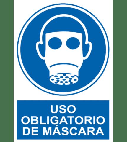 Señal / Cartel de Uso obligatorio de máscara