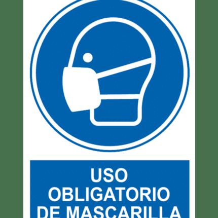 Señal / Cartel de Uso obligatorio de mascarilla