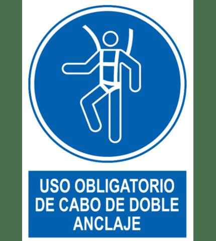 Señal / Cartel de Uso obligatorio de arnés