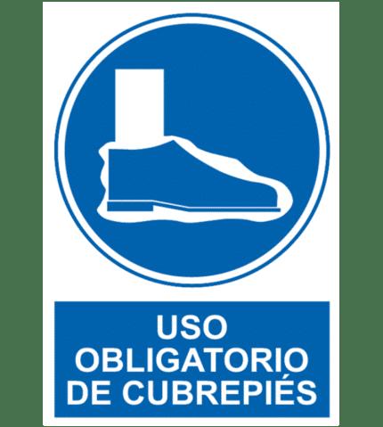 Señal / Cartel de Uso obligatorio de cubrepiés
