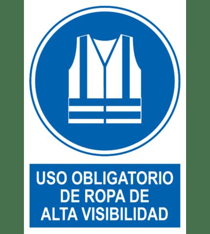 Señal / Cartel de Uso obligatorio ropa alta visibilidad