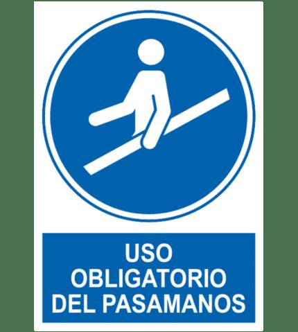 Señal / Cartel de Uso obligatorio del pasamanos
