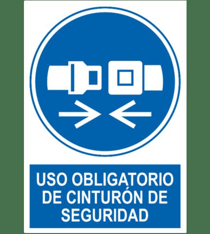 Señal / Cartel de Uso obligatorio cinturón de seguridad