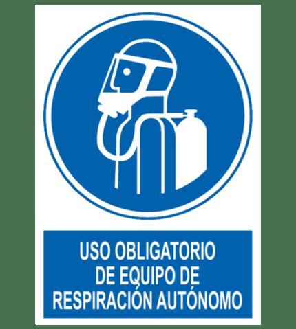 Señal / Cartel de Obligatorio equipo respiración autónomo