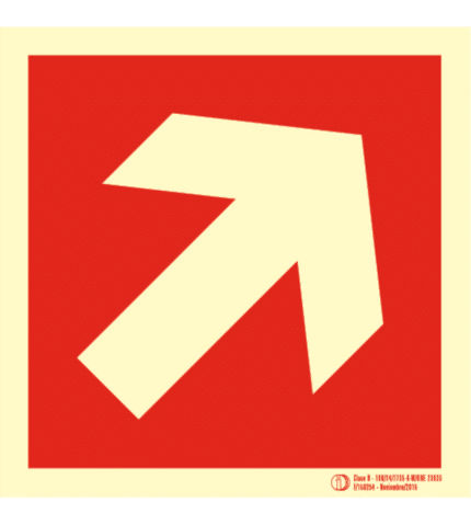 Señal / Cartel de Localización diagonal. Clase B