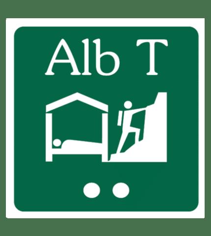 Señal / Cartel de Albergue turístico. Asturias
