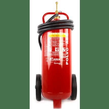 Carro extintor móvil de 50 kg de polvo PP50P