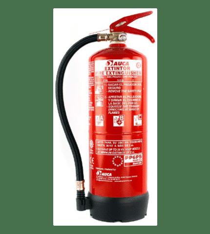 Extintor de 6 kg de polvo para marina PP6PSM