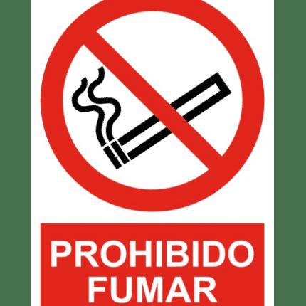 Señal / Cartel de Prohibido fumar