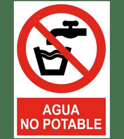 Señal / Cartel de Agua no potable