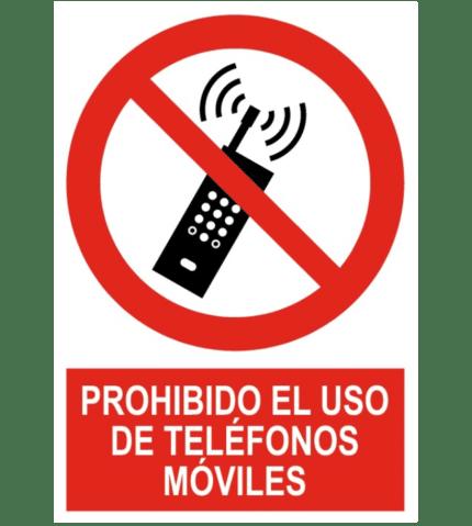 Señal / Cartel de Prohibido el uso de teléfonos móviles