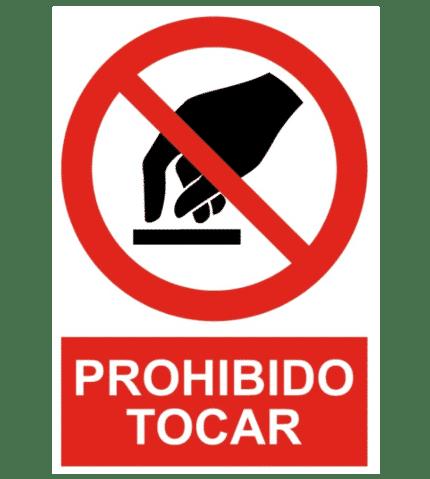 Señal / Cartel de Prohibido tocar