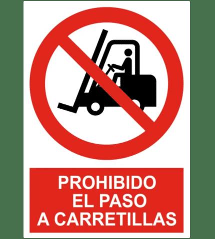Señal / Cartel de Prohibido el paso a carretillas