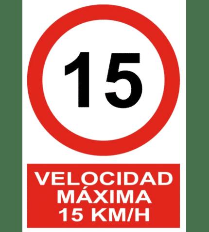 Señal / Cartel de Velocidad máxima 15 Km/h