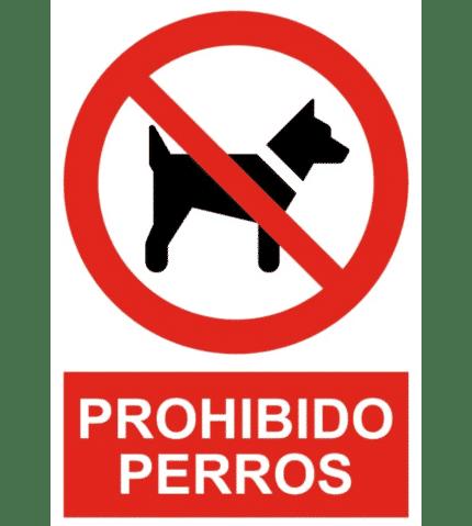 Señal / Cartel de Prohibido perros