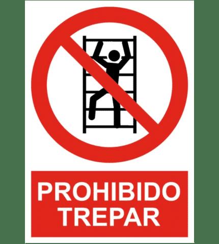 Señal / Cartel de Prohibido trepar