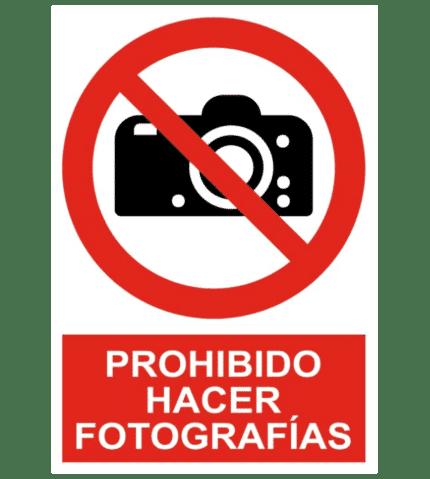 Señal / Cartel de Prohibido hacer fotografías