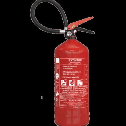 Extintor 6 kg de polvo PS6 ABC