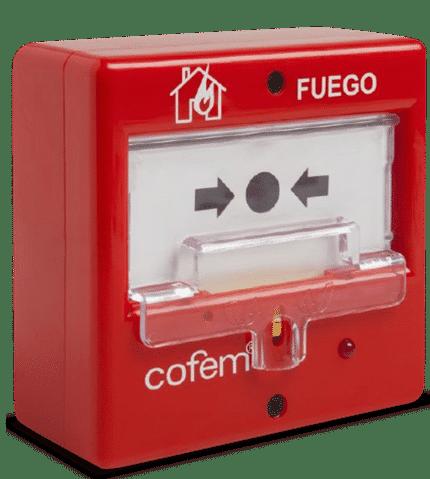 Pulsador de alarma convencional rearmable PUCAR