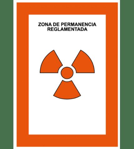 Señal de Zona de permanencia reglamentada