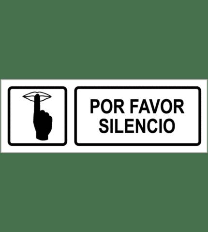 Señal / Cartel de Por favor silencio