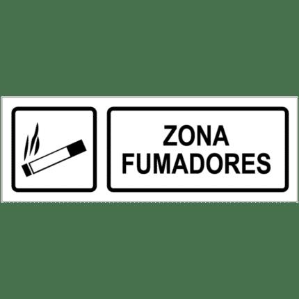 Señal / Cartel de Zona de fumadores