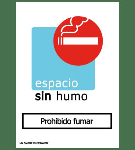 Señal de Espacio sin humo. Prohibido fumar