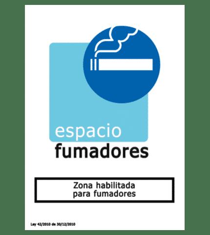 Señal de Zona habilitada para fumadores