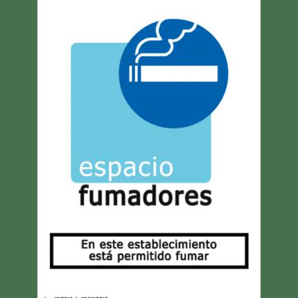 Señal de En este establecimiento está permitido fumar