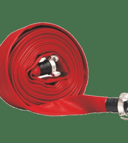 Tramo manguera incendios plana caucho roja
